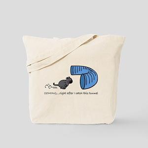 Tunnel Pug in Black Tote Bag