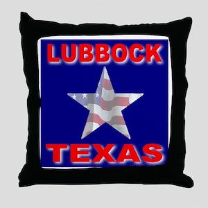 Lubbock Texas Throw Pillow