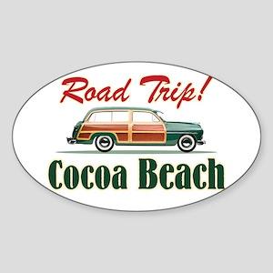 Cocoa Beach Road Trip - Sticker (Oval)