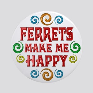 Ferret Happiness Ornament (Round)