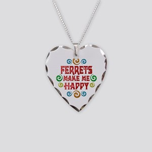 Ferret Happiness Necklace Heart Charm