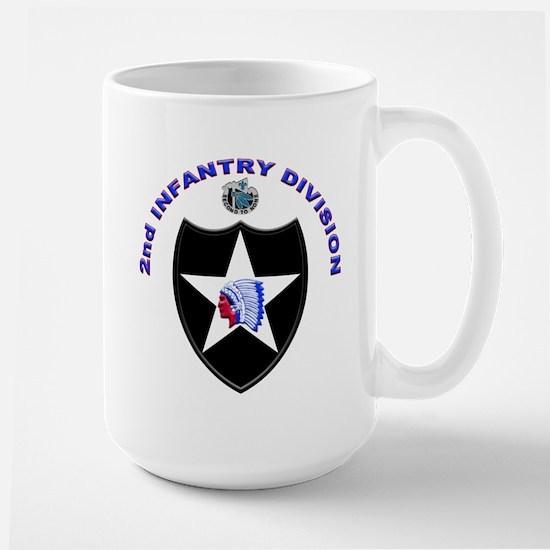 US Army 2nd Infantry Division Large Mug