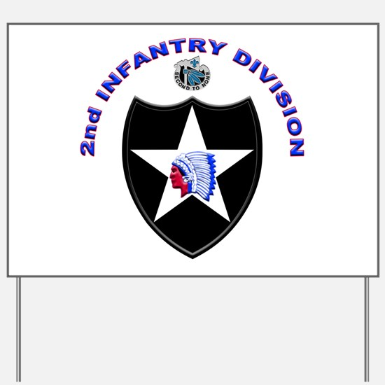 US Army 2nd Infantry Division Yard Sign