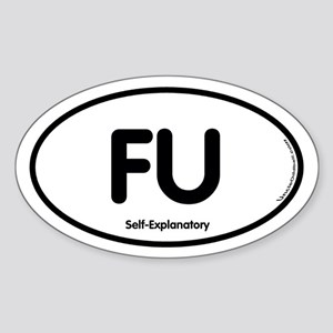 FU Oval Sticker