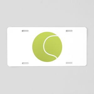 Tennis Ball Icon Aluminum License Plate