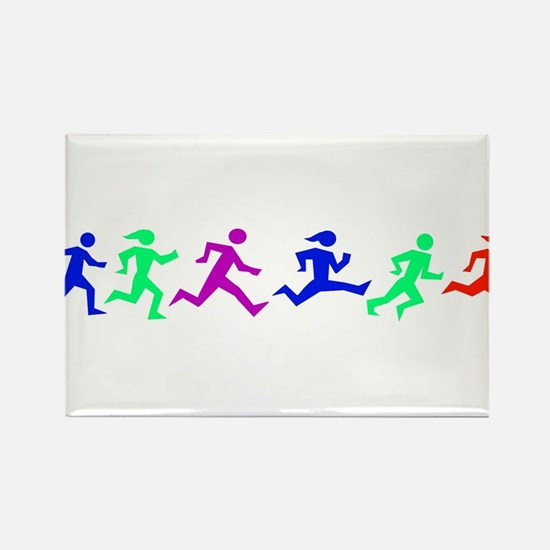 Unique Running in the usa race results clubs Rectangle Magnet
