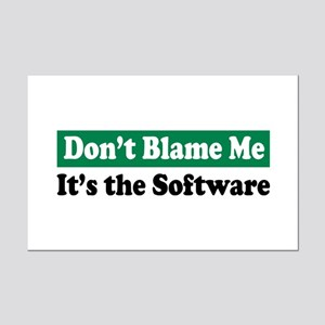 Its the Software Mini Poster Print