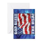God Bless The USA! Greeting Cards (Pkg6)