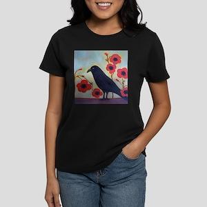 Crow and Poppies Women's Dark T-Shirt