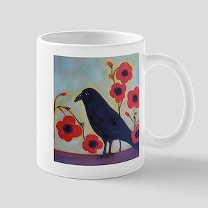Crow and Poppies Mug
