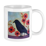 Crow and Poppies Mug