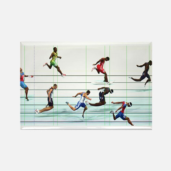 Cute Running in the usa race results clubs Rectangle Magnet