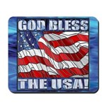God Bless The USA! Mousepad