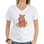 Pink As A Hippo Women's V-Neck T-Shirt