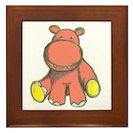 Pink As A Hippo Framed Tile