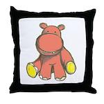 Pink As A Hippo Throw Pillow