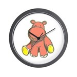 Pink As A Hippo Wall Clock