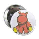 """Pink As A Hippo 2.25"""" Button"""