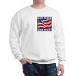 God Bless The USA! Sweatshirt Over Heart