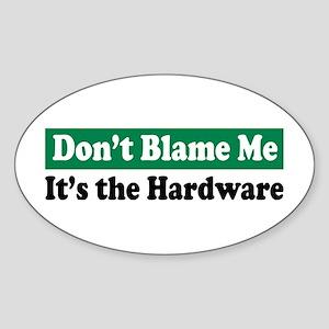 It's the Hardware Oval Sticker