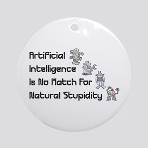 Artificial Intelligence Ornament (Round)