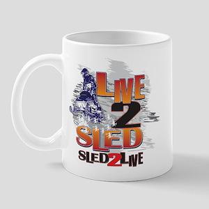 Live 2 sled sled 2 live Mug