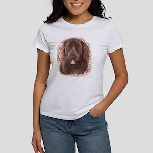 Brown Newfy Portrait Women's T-Shirt