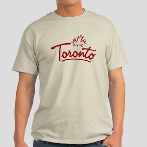 Toronto Leaf Script Light T-Shirt