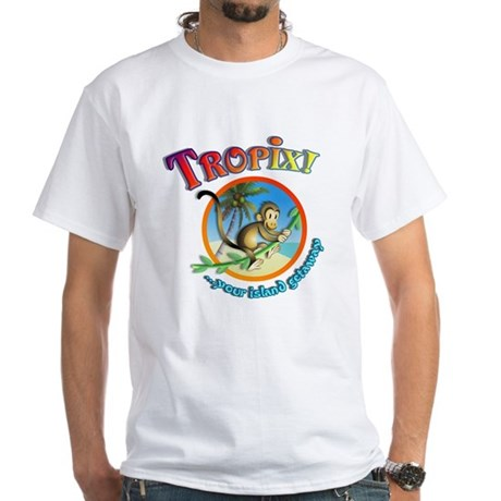 Official Tropix Logo Basic White T-Shirt
