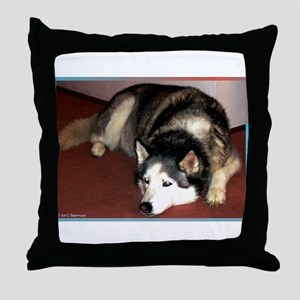 Dog, husky, photo, Throw Pillow