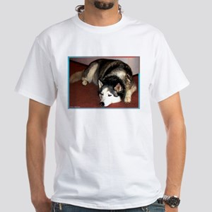 Dog, husky, photo, White T-Shirt