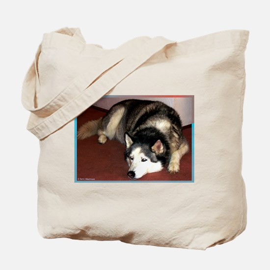 Dog, husky, photo, Tote Bag