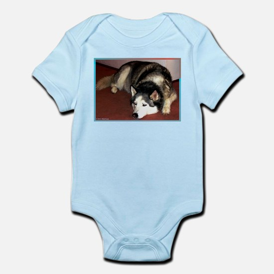 Dog, husky, photo, Infant Bodysuit
