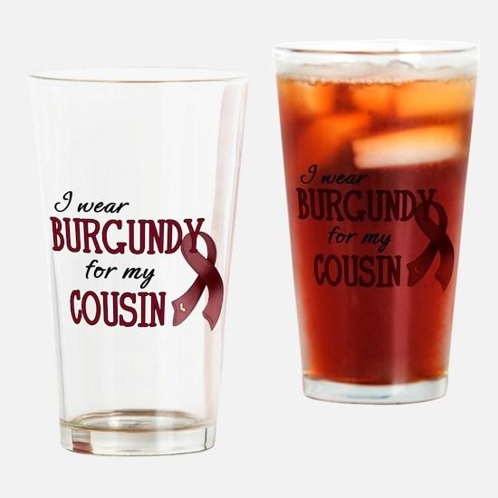 Wear Burgundy - Cousin Pint Glass