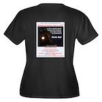 Decide NOW Women's Plus Size V-Neck Dark T-Shirt