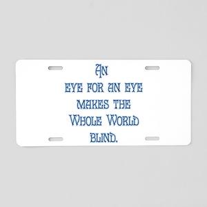 Eye for an Eye Aluminum License Plate