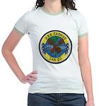 USS CADMUS Jr. Ringer T-Shirt