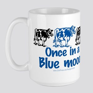 Once in a Blue moo Cow Large Mug