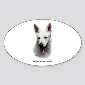 White Shepherd Sticker (Oval)