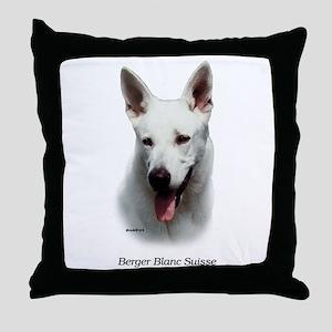 White Shepherd Throw Pillow
