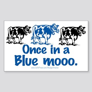 Once in a Blue moo Cow Rectangle Sticker