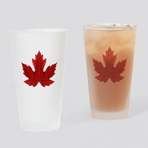 Canadian Maple Leaf Pint Glass
