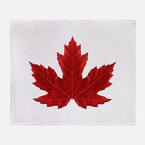 Canadian Maple Leaf Throw Blanket