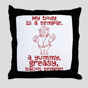 Bacon Temple Throw Pillow