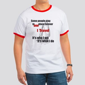 I Travel (split words) Men's Ringer T