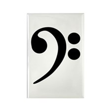 Bass Clef Symbol Rectangle Magnet