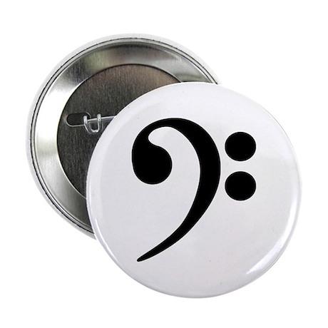 "Bass Clef Symbol 2.25"" Button"