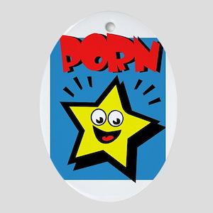 Porn Star Oval Ornament