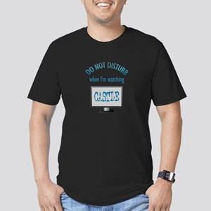 Do Not Disturb Watching Castle Men's Fitted T-Shir