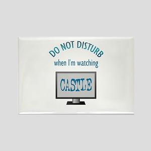 Do Not Disturb Watching Castle Rectangle Magnet
